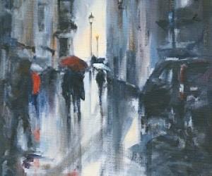 Red Umbrella. Market Square.